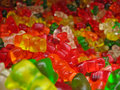 Pile of Many Gummy Bears Stock Photography