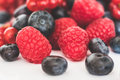 Pile of mixed berries - berry fruits Royalty Free Stock Photo