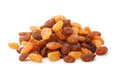 Pile of mixed raisins Royalty Free Stock Photo