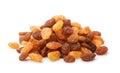 Pile of mixed raisins Royalty Free Stock Photo