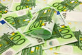 Pile of money 100 Euro Stock Photography