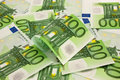 Pile of money 100 Euro Royalty Free Stock Image
