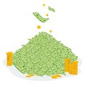 Pile of money coin