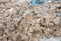 Pile of mud at construction site Stock Photo
