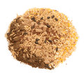 Pile of muesli for horse close up studio Stock Photography