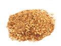 Pile of muesli for horses studio Royalty Free Stock Images