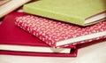 Pile notebooks photo design Royalty Free Stock Image