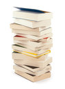 Pile of novel books clipping path for maximum size Royalty Free Stock Image