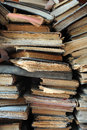 Pile of old books worn background Stock Photography