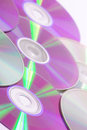 Pile of old cds background Stock Photos