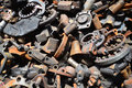 Pile of old motor parts scrap metal for recycling Royalty Free Stock Photo