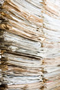Pile old newspaper waiting recycling Royalty Free Stock Photo