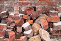 Pile of Old Red Bricks Royalty Free Stock Photo