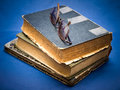 Pile of oldbook Royalty Free Stock Photos