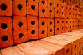 Pile orange bricks Stock Image