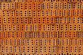 Pile of orange bricks for pattern and construction it is Royalty Free Stock Images