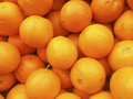 Pile of oranges at farmers market Royalty Free Stock Photo