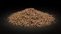 Pile of Organic Cumin seed (Cuminum cyminum) Royalty Free Stock Photo