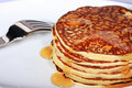Pile of pancakes Royalty Free Stock Image