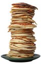 Pile of pancakes isolated on a white background Royalty Free Stock Photo