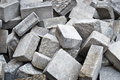 Pile of pavement close up Royalty Free Stock Image
