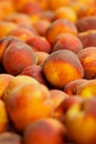 Pile of peaches Stock Photos