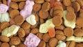 Pile of pepernoten typical dutch treat for sinterklaas in december Stock Photo