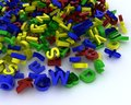 Pile of plastic letters Royalty Free Stock Photography