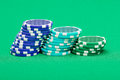 Pile of playing chips Royalty Free Stock Photo