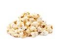 Pile of popcorn flakes isolated Royalty Free Stock Photo
