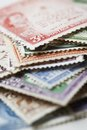 Pile of postage stamps Royalty Free Stock Images