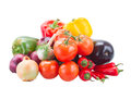 Pile   of raw  vegetables Royalty Free Stock Photo