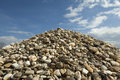 Pile of rocks and blue sky Royalty Free Stock Images