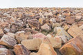 Pile of rocks for breakwater Royalty Free Stock Photo