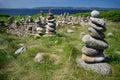Pile of rocks on the isle of Arran (Scotland) Royalty Free Stock Photo