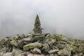 Pile of rocks on mountain top Royalty Free Stock Photo