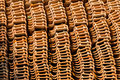 Pile of roofing tiles Royalty Free Stock Photo