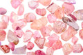 Pile of rough natural uncut spinel gemstone a gemstones in different colors Stock Photography