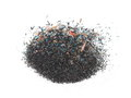 Pile sawdust trash graphite pencil isolated on white background Royalty Free Stock Images