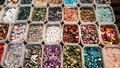 Pile of semi precious stones Royalty Free Stock Photo