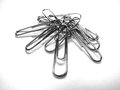 Pile of Silver Metal Paperclips Office Supplies Royalty Free Stock Photo