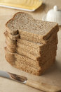 Pile of slices brown bread Royalty Free Stock Photo