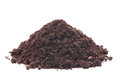 Pile of soil on white background Stock Photo