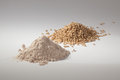 Pile of sorghum and sorghum flour Royalty Free Stock Photo