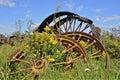 Pile Of Steel Wheels Of Heavy ...