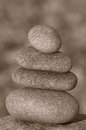 Pile of stones four zen Stock Photography