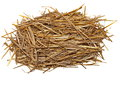 Pile straw isolated on white Royalty Free Stock Photo