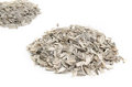 Pile of sunflower seeds and husks Royalty Free Stock Photo
