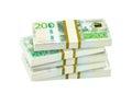 Pile of swedish crowns banknotes bankroll Royalty Free Stock Photo