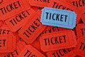 Pile of Tickets Royalty Free Stock Images